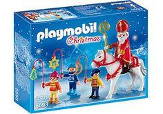 Playmobil Christmas 5593 Saint Nicolas avec enfants - Playmobil - Achat & prix   fnac