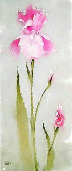 """""""The Iris"""" by Vitaly Shchukin Watercolor Sketch, Watercolor And Ink, Watercolor Flowers, Watercolor Paintings, Watercolors, Art Floral, Iris Art, Iris Painting, Art Graphique"""