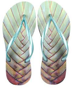 d77b601da3df5 Amazonas Sandals - Enjoy - FlipFlop Woman - Palmeira Palm Tree Leaves
