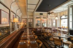 Stephen Gambrel's first restaurant design.. Cole's NYC – Greige Design