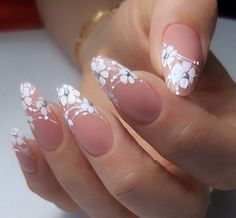 53 Best Floral Nail Art Designs - Page 24 of 53 - BeEnjoy Cute Acrylic Nails, Cute Nails, Pretty Nails, 3d Nails, Coffin Nails, Nail Art Designs Videos, Acrylic Nail Designs, Elegant Nails, Stylish Nails