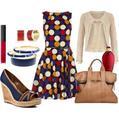 Polka-Dot Dress - summer, created by marykate2345 on Polyvore