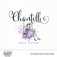A whimiscal fashion illustration inspired logo, perfect for a quick brand refresh!