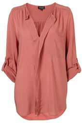 This top in a paler pink would be a great addition to my closet. Just sayin.