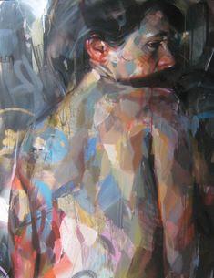 http://www.boumbang.com/pascal-vilcollet-paintings/ © Pascal Vilcollet, Série Filles du Calvaire, mixed media on canvas, 165x120 cm