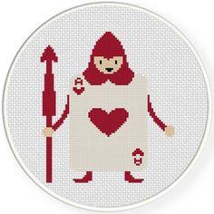 Card Soldier Heart Cross Stitch Pattern