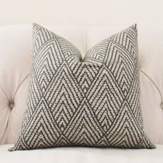 Decorative Designer Pillow - Black Gray Beige Geometric Pillow -Black Tan Chevron Pillow - Grey Pillow Cover -Throw Pillow