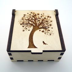 Tree of Life Jewelry Box Wood Trinket Box Small Jewelry Case Laser Cut Box…