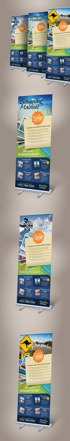 Holiday Travel Roll-up Banner on Behance
