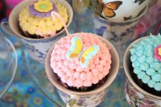 Chloe's Celebrations ~ Alice in Wonderland Baby Shower #aliceinwonderland #butterfly #cupcakes
