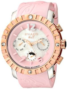 MULCO Unisex MW5-1876-813 Nuit Lace XL Analog Display Swiss Quartz Pink Watch by MULCO -- Awesome products selected by Anna Churchill