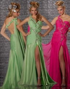 Ivory Aqua  prom gown by Mac Duggal