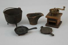 Estate Lot of Cast Iron Miniatures and Salesman Samples