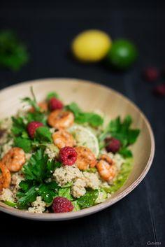 Couscous Salat, Couscous Garnelen Salat, Rezept Salat, Honig Dressing, Dressing Rezept, Salat Rezept. Couscouc shrimp salad.