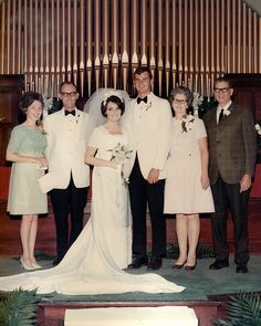 1970 Love her veil and headpiece.