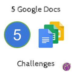 If you are just getting started with Google Docs (Docs, Sheets, Slides, Forms or Drawings) here is a challenge for each app to try. I am using this presentation in a workshop I am giving to teacher...
