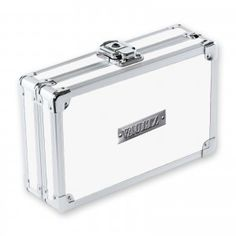 It's your stuff so LOCK IT UP!™ This is the perfect catch-all supply box is durable and cool, and is the perfect size to throw in a backpack, drawer, or glove compartment. White Pencil, Pencil Boxes, Key Lock, Drawers, Office Supplies, Chrome, Ring Bearer, Cool Stuff, Storage