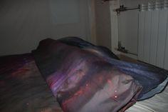 Great look of galaxy bedding set.