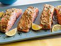 Panko crusted Broiled Salmon with Herb Mustard Glaze Recipe-use gluten free panko bread crumbs