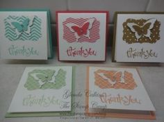 Stampin' Up! 2013/2015 In Colors. Love the simplicity of the cards.