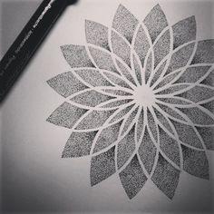 Mandala dotwork