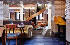 One of the best hotel interiors we've seen! Good job The Hoxton Amsterdam! Read our complete review on - Roomed   roomed.nl