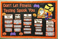 Don't Let Fitness Testing Spook You Bulletin Board