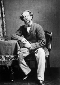 "Charles Dickens, the ultimate serial novelist - Feb. 7, 1812 - 1870…  A Dickensian motto: ""Have a heart that never hardens, and a temper that never tires, and a touch that never hurts.""  Photo, c. 1860…"
