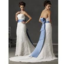 Image result for blue sash wedding dress