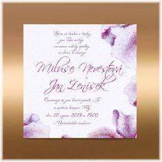 Svadobné oznámenia maľované