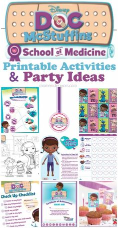 Doc McStuffins School of Medicine  – Free Printables & Party Ideas