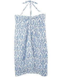 Ciel | Brigitte Blue And White Print Sun Dress | Designer Eco ...