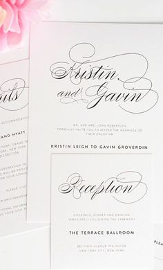 loving this script font // shine wedding invitations