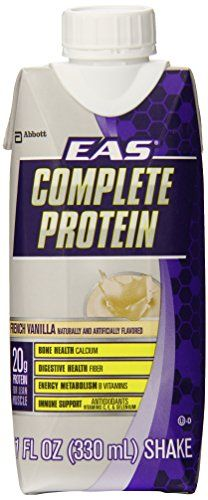 EAS Complete Protein Supplement French Vanilla 11 oz 12 Count Review http://10healthyeatingtips.net/eas-complete-protein-supplement-french-vanilla-11-oz-12-count-review/