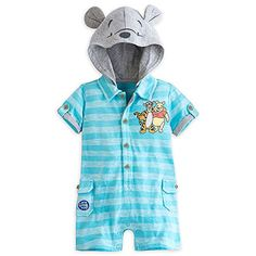 Disney Store Pooh and Tigger Knit Cotton Romper Bodysuit Baby Months Disney Baby Clothes, Cute Baby Clothes, Baby Disney, Cute Babies, Baby Kids, Baby Baby, Winnie The Pooh Nursery, Knitted Romper, Everything Baby
