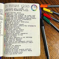 15 Minute Tasks | Bullet Journal Collection