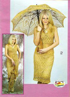 crochet dress and umbrellar for summer Crochet Woman, Love Crochet, Crochet Lace, Crochet Clothes, Diy Clothes, Crochet Dresses, Lace Parasol, Suits For Women, Clothes For Women