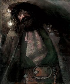 Rubeus Hagrid - New Images from the Illustrated Edition of Harry Potter and the Sorcerer's Stone. The images are done by Jim Kay, who is known for his illustrations in Patrick Ness' A Monster Calls. Harry Potter Hagrid, Harry Potter Jim Kay, Harry Potter Pottermore, Harry Potter Author, Arte Do Harry Potter, Harry Potter Jk Rowling, Harry Potter Books, Harry Potter Characters, Harry Potter World