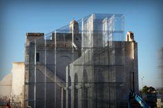 L'installazione di Edoardo Tresoldi per la Basilica paleocristiana di Siponto © Giacomo Pepe 3 | Artribune