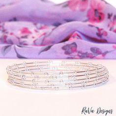 clear beads bracelet memory wire jewelry seed bead pattern ideas Memory Wire Jewelry, Wooden Jewelry, Diy Bracelet Storage, Seed Bead Bracelets, Seed Beads, Jewelry Rack, Pattern Ideas, Program Design, Handmade Wooden