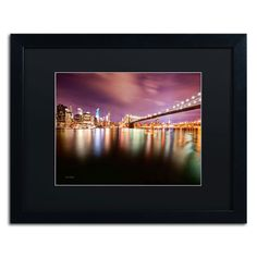 'Brooklyn Bridge Park and Financial District - IV' by David Ayash Framed Photographic Print