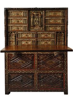 Victoria And Albert Museum, Century Cabinets, Spanish Interior, Geometric Decor, Western Furniture, Architectural Features, Objet D'art, Cabinet Furniture, Museum Collection
