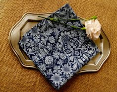 Handstitched Liberty of London Navy & Dove Grey by hillanddale, $9.00