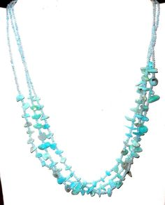 "Amazonite Quartz and seed Bead Necklace  100ctw  20"" CHRISTMAS IN JULY $9.99 http://r.ebay.com/tO3VJC via @eBay http://stores.ebay.com/JEWELRY-AND-GIFTS-BY-ALICE-AND-ANN"