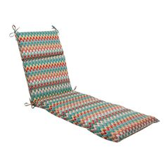 72.5 Moroccan Red & Turquoise Outdoor Patio Chaise Lounge Cushion, Multi, Outdoor Cushion