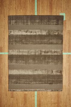 "5' 3"" x 7' 7"" Brown Striped Contemporary Handloom Area Rug Modern"
