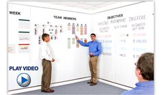 Wall-sized magnetic white board for conference room.