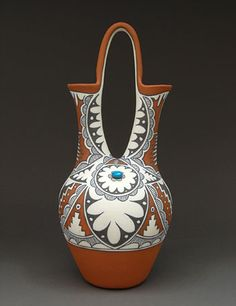 Pottery Wedding Vase by Mary Small (Jemez)  I have one of these. Priceless.