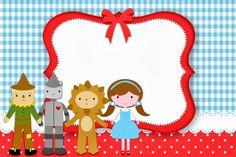 Mágico de Oz - Kit Completo com molduras para convites, rótulos para guloseimas, lembrancinhas e imagens!