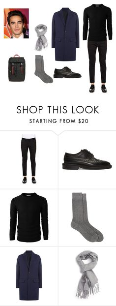 """the mistery men"" by mathildepl07 on Polyvore featuring Dsquared2, Burberry, Barneys New York, AMI, Topman, Gucci, men's fashion et menswear"